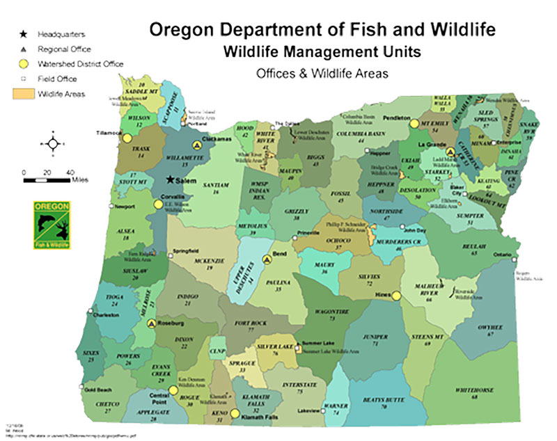 Oregon Unit Map